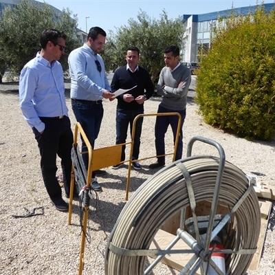 Comienza la instalación de Fibra Óptica  en el Polígono Industrial de La Nucía