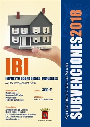 La Nucia Cartel Subv IBI 2018