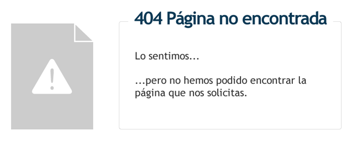 404 - Página no encontrada